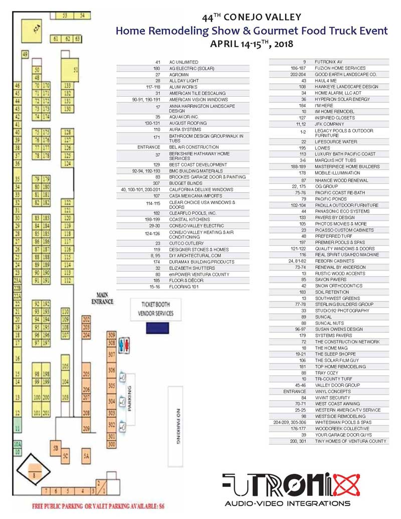 home show map